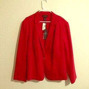 NWT Lane Bryant Red Blazer Size 26
